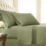 Soft Earth Tones_Pleated Sheet Sets_sage green