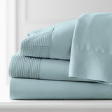 Soft Earth Tones_Pleated Sheet Sets_sky blue