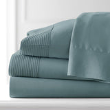 Soft Earth Tones_Pleated Sheet Sets_steel blue