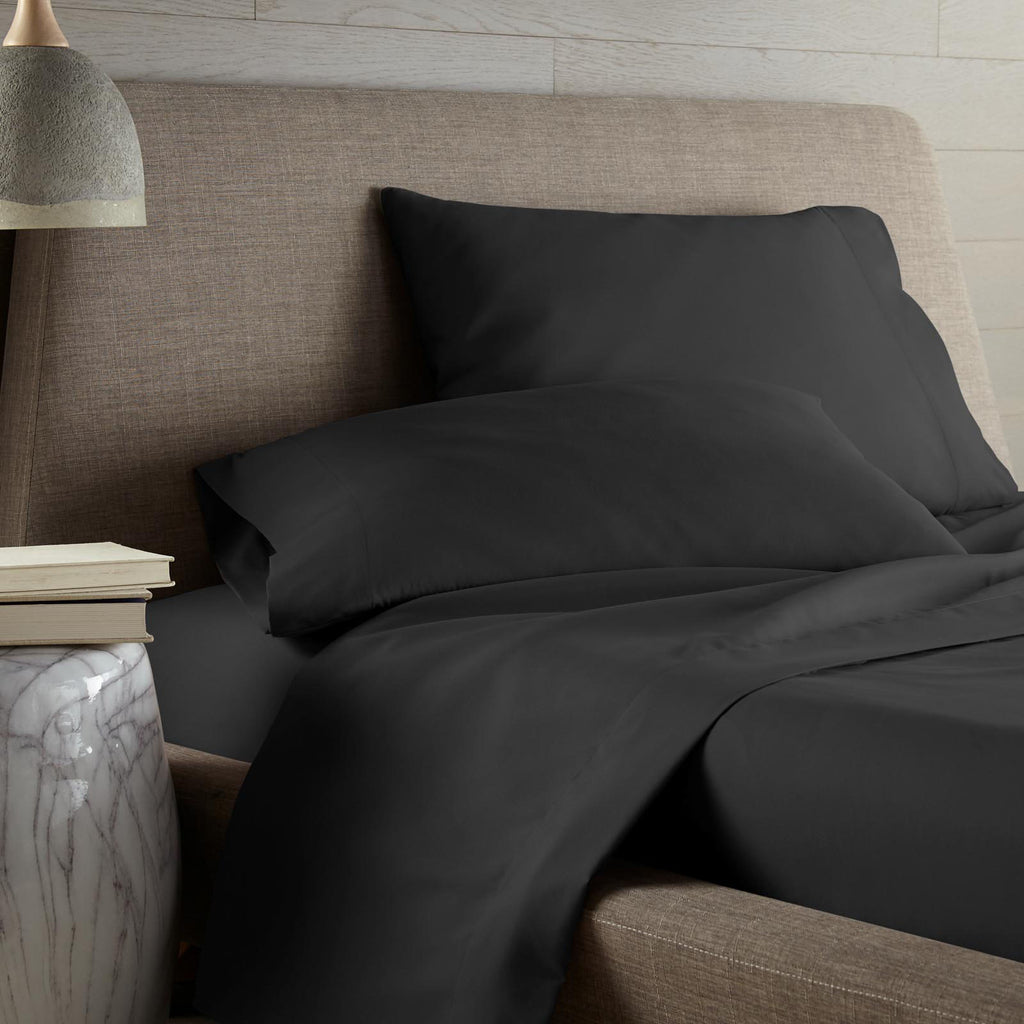 Colors of the Sea 4-piece Sheet Set Black