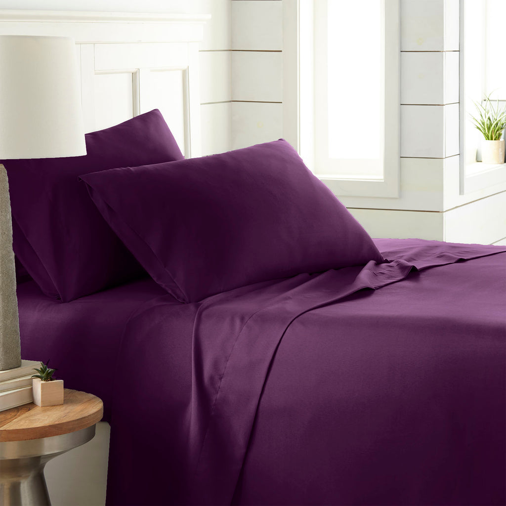 90 GSM Classic_4-Piece Sheet Set_purple