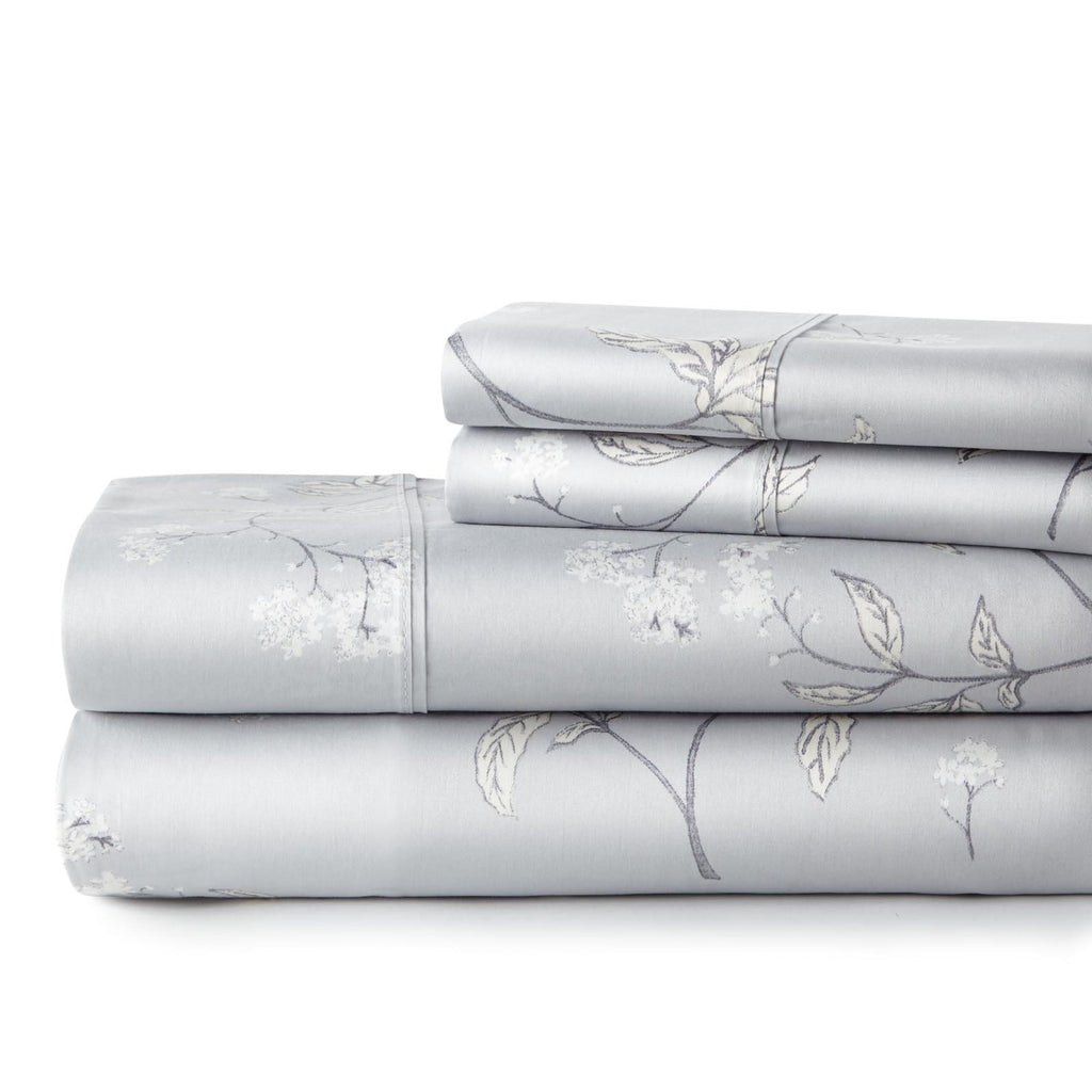 Forget Me Not 100% Cotton Sateen Luxury Extra Deep Pocket Sheet Set