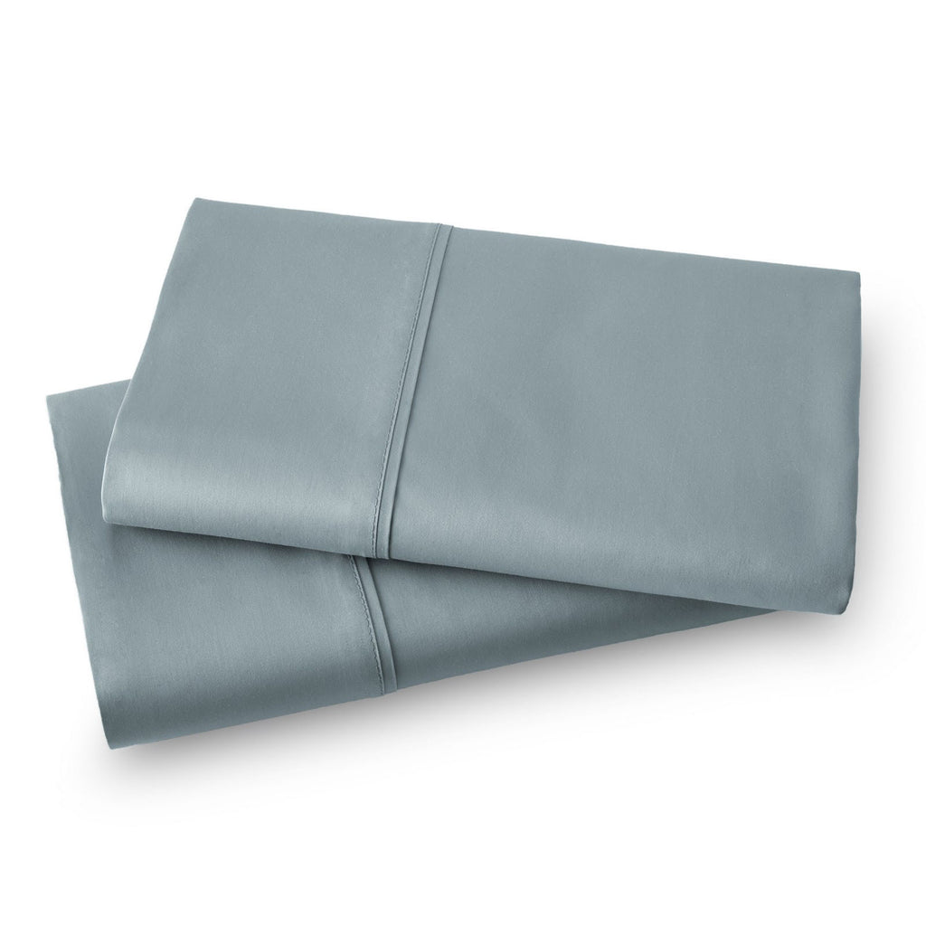 Solid Color 100% Cotton Sateen_Pillow Cases_steel blue