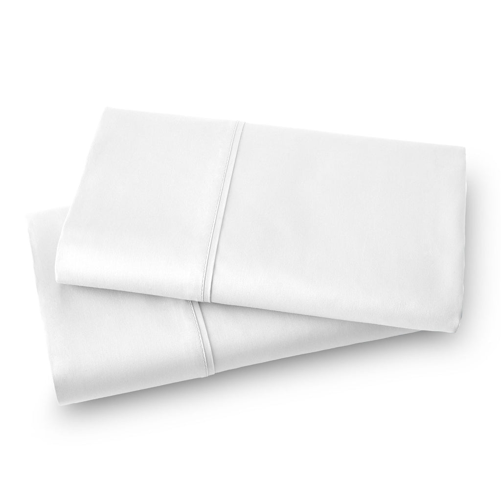 Solid Color 100% Cotton Sateen_Pillow Cases_bright white