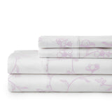 Secret Garden_sheet set_white with lavender flowers