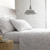 Secret Garden_sheet set_white with pink