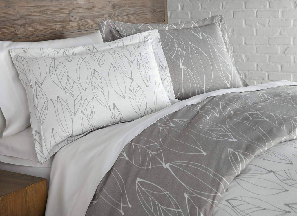 Contemporary Leaves Reversible Comforter Set