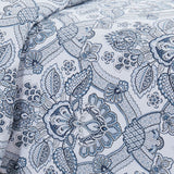 bluebell paisley duvet cover in blue