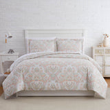 bluebell paisley duvet cover in coral