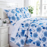 Blue Botanical Duvet Cover Set