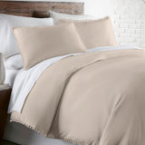 Classic Vintage Hem Duvet Cover Set Made with Pre-Wash Fabric