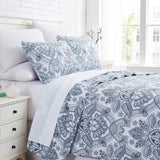 Bluebell Paisley Reversible Quilt Set