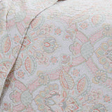 bluebell paisley quilt set in coral