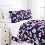 Blue Afternoon Reversible Quilt Set