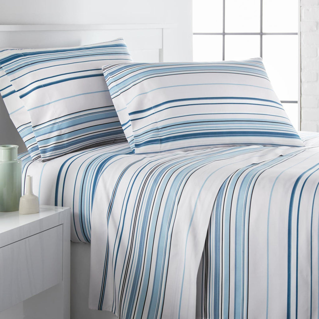 Malibu Dreams_sheet set_blue