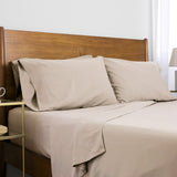 6-Piece Pre-Wash Fabric_sheet set_bone