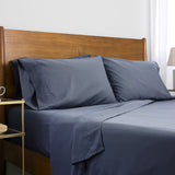 6-Piece Pre-Wash Fabric_sheet set_steel blue