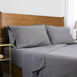 6-Piece Pre-Wash Fabric_sheet set_steel grey