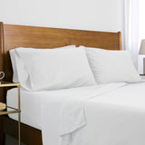 6-Piece Pre-Wash Fabric_sheet set_white