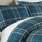 Purely Plaid_comforter_blue