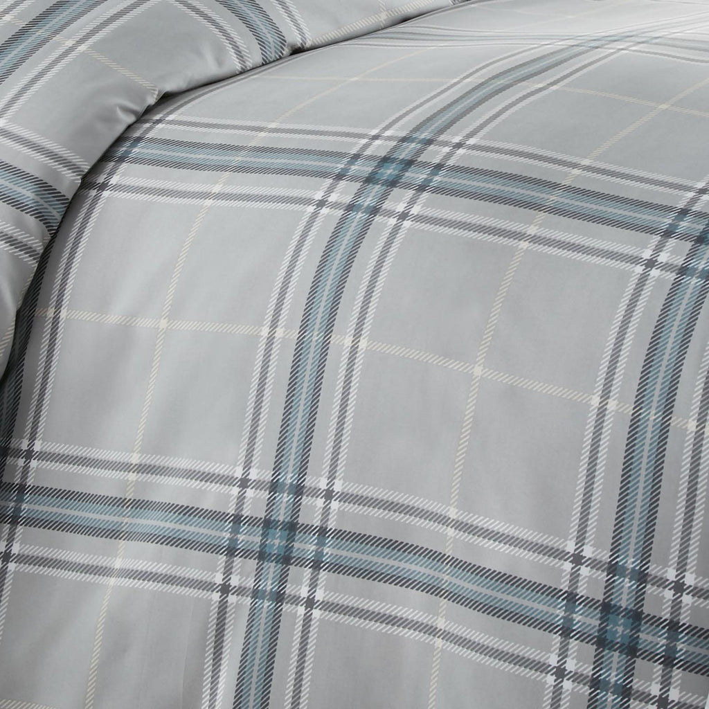 Purely Plaid_comforter_grey