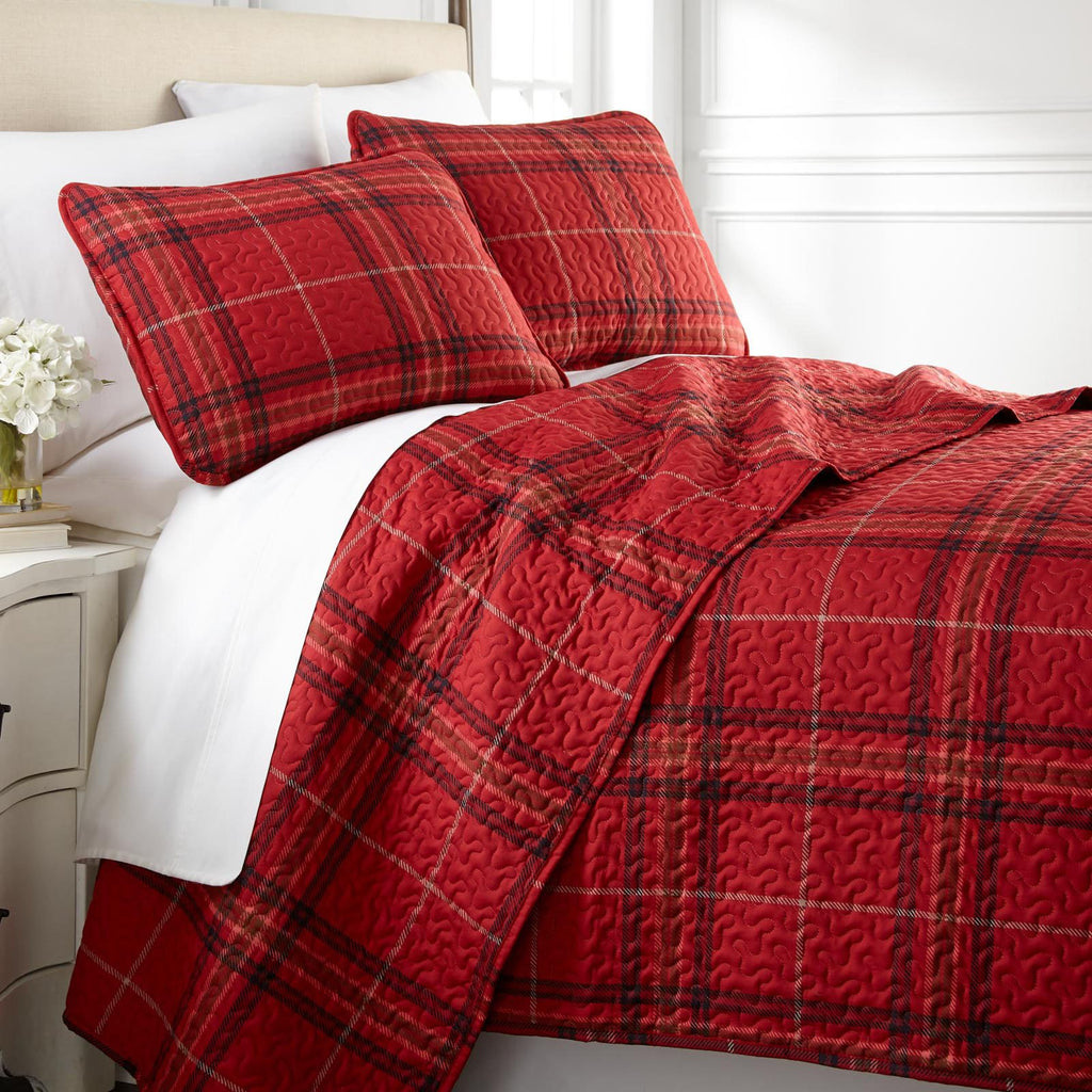 Purely Plaid_quilt set_red