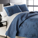 Rose Garden_quilt Set_blue