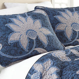 Royal Bloom_quilt set_blue