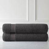 Cotton Towel Set_Two Over-Sized Bath Sheets_Charcoal
