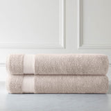 Cotton Towel Set_Two Over-Sized Bath Sheets_Warm_Sand