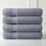 Cotton Towel Set_Four Over-Sized Bath Sheets_steel grey