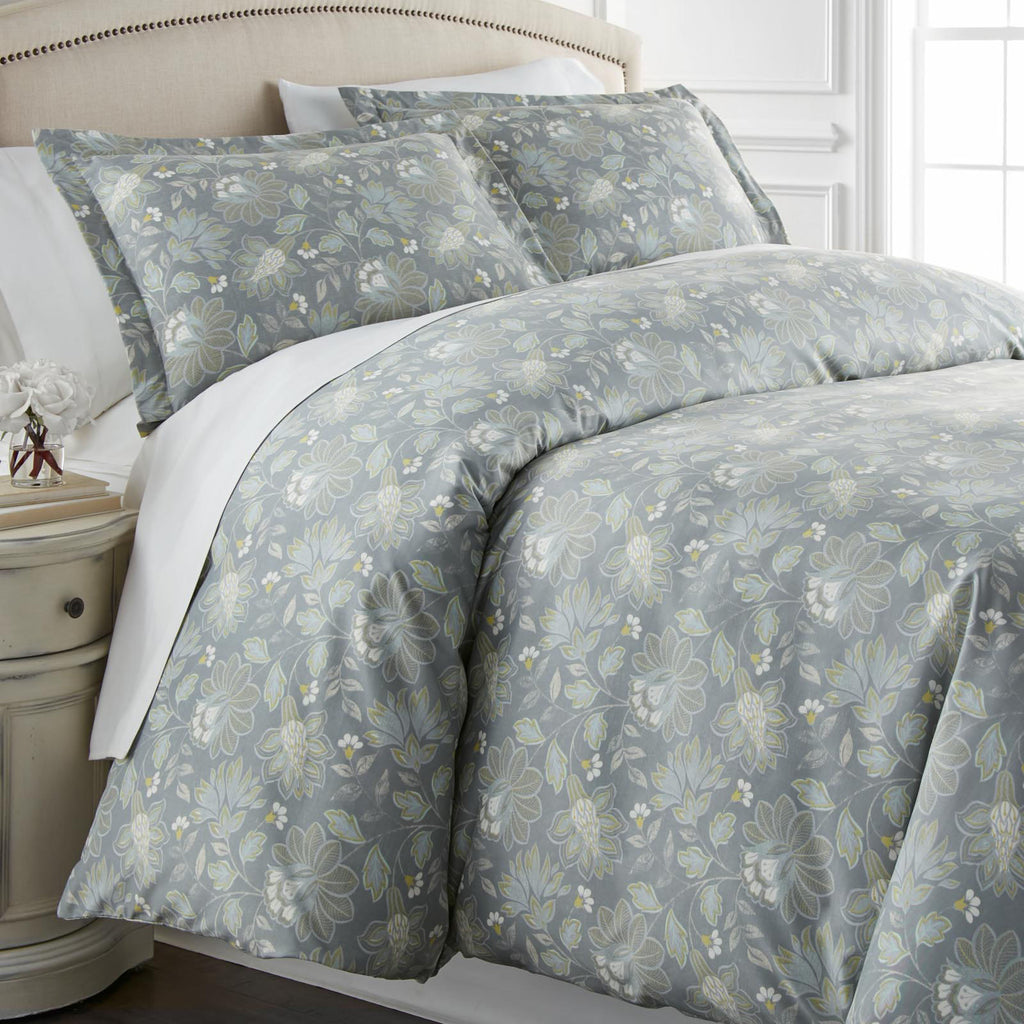 Terra Flora_duvet set_steel blue