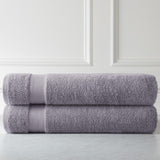 Cotton Towel Set_Two Over-Sized Bath Sheets_Muted Lavender