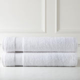 Cotton Towel Set_Two Over-Sized Bath Sheets_white