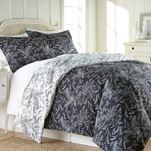 Floral Print Ultra-Soft & Supreme Quality Reversible Comforter Set