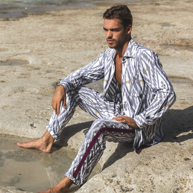 Multipurpose Loungewear Pants in Mykonian style , handmade high quality organic rayon.