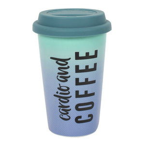 Cardio And Coffee Thermal Travel Mug