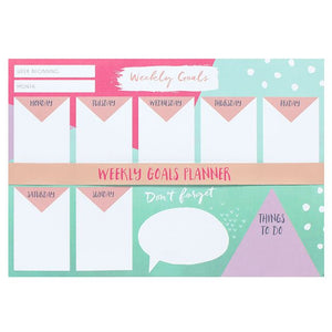 Weekly goals A4 tear off planner
