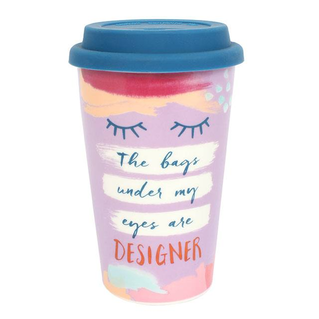 The bags under my eyes...Thermal travel mug