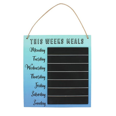 Meal planner hanging sign