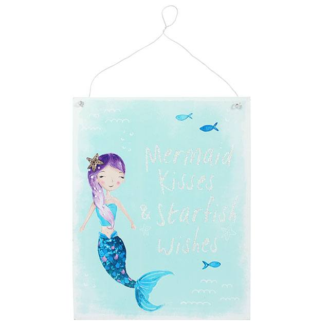 Mermaid metal wall plaque