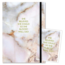 She believed she could Journal and gift card set