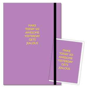 Make today awesome A5 journal and card gift set