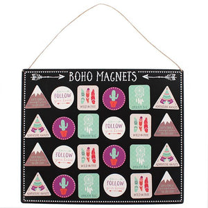 Assorted Boho Style Magnets
