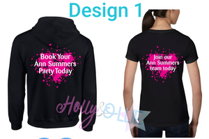 Ann Summers Pull over Hoodie & T-shirt Bundle - Personalised