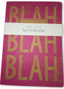 Blah Blah Blah A5 Lined Notebook