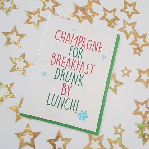 Champagne For Breakfast Card