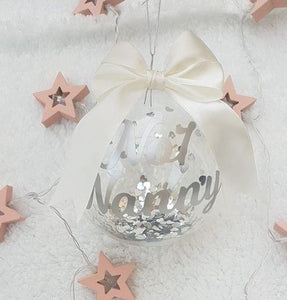 10cm Personalised Glass Bauble