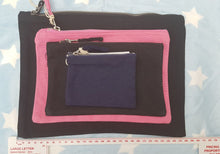 Black Personalised Zip Bag
