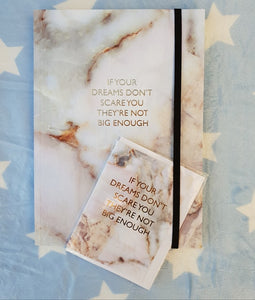 If Your Dreams Don't Scare You Journal and Gift Card Set